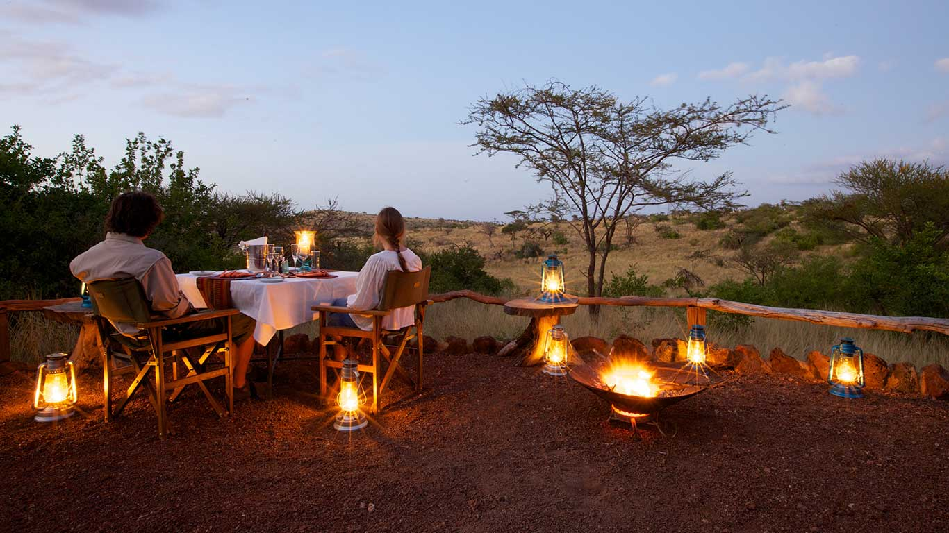 Lewa Safari Camp Campfire