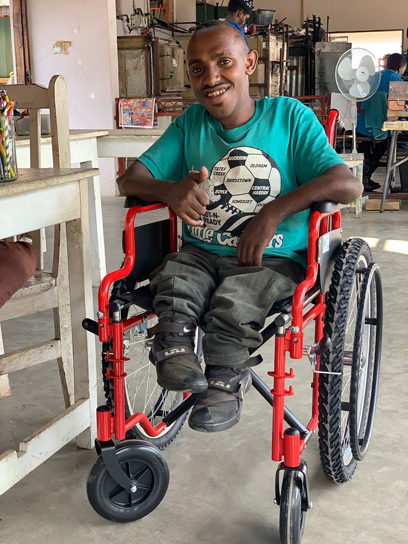 wheel chair donation Amani