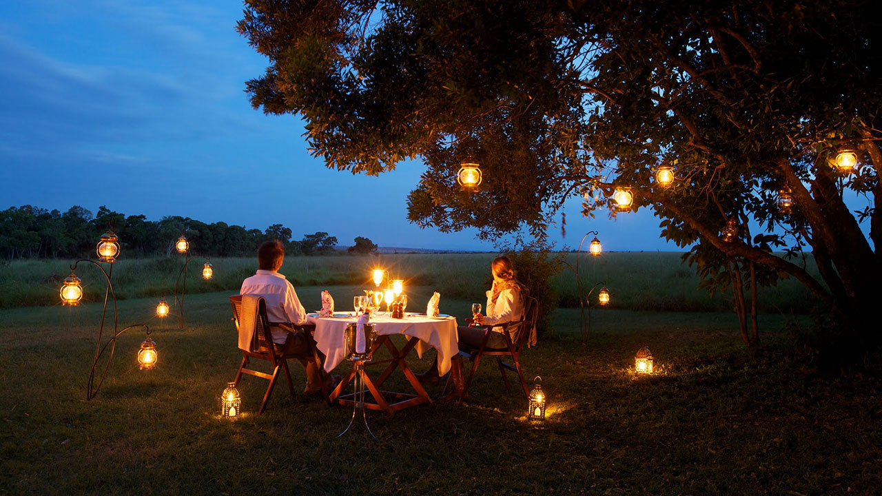 Elephant Pepper Camp romantic private dinner